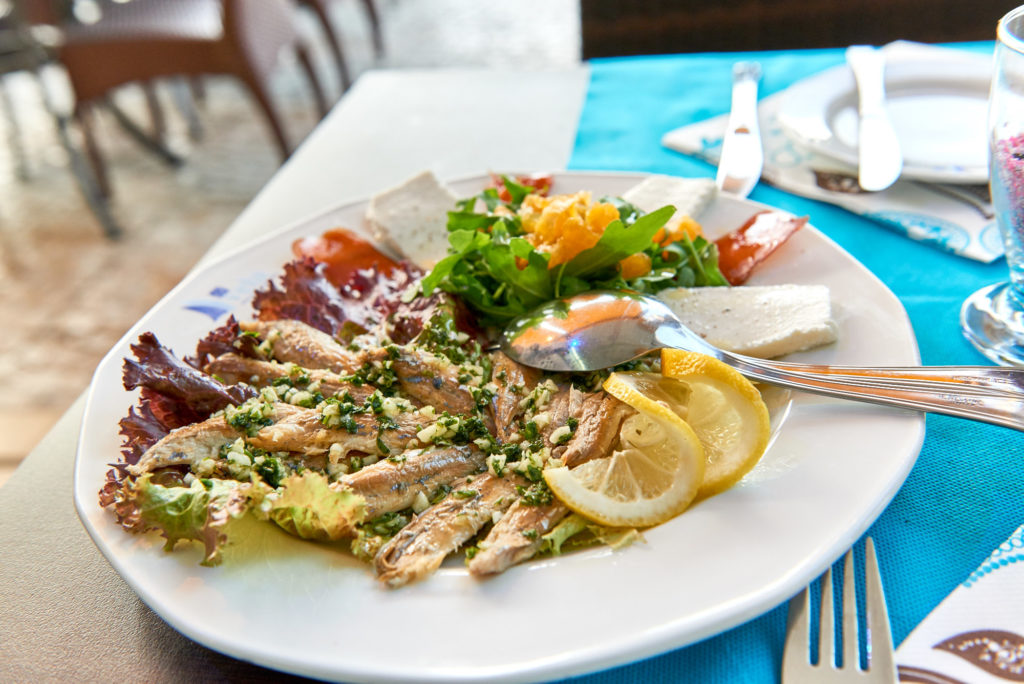Sardinen Teller Algarve