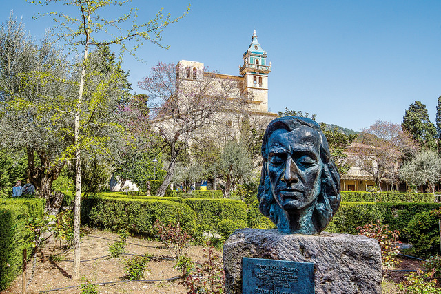 Büste von Chopin in Valldemossa