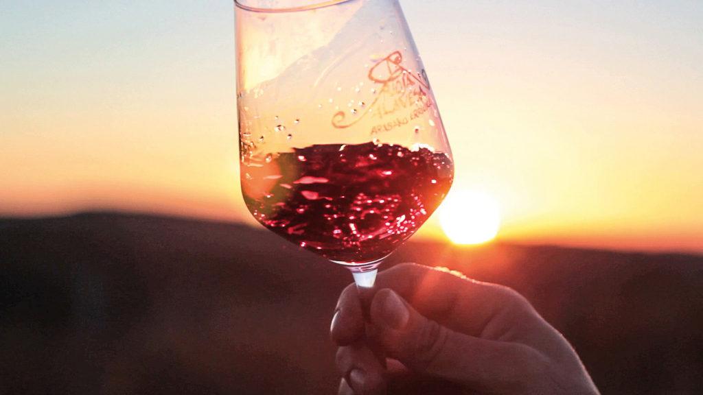 Rioja Wein Sonnenuntergang