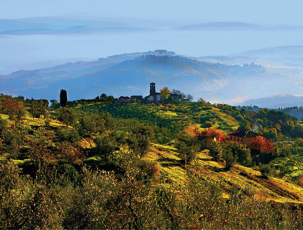 Hügellandschaft in der Toskana