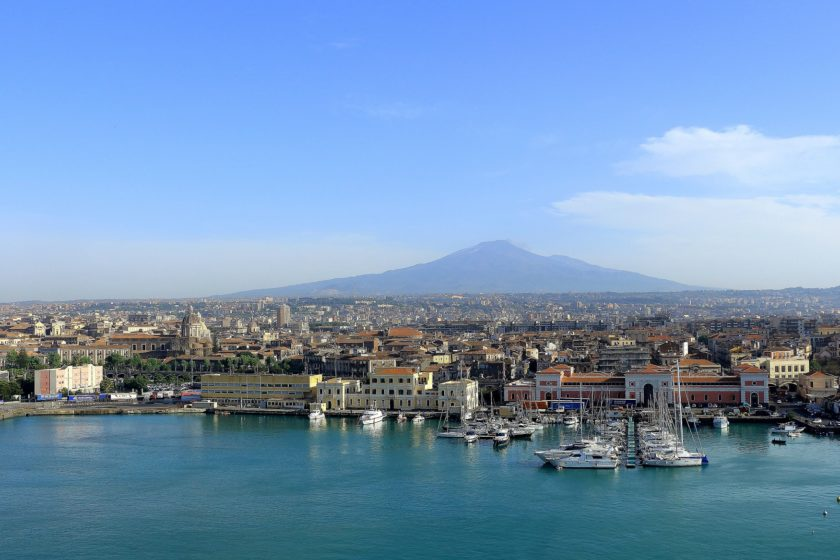 Blick auf Catania