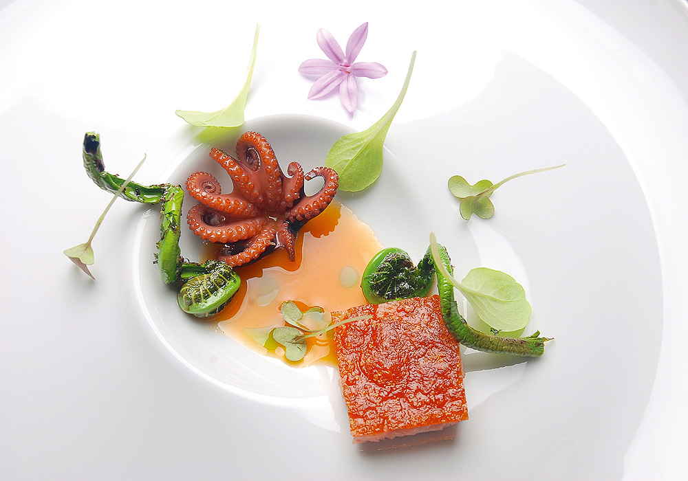 Gourmet-Essen im Restaurant Vila Joya