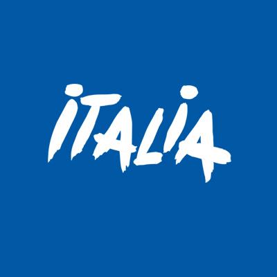 Italien Logo blau