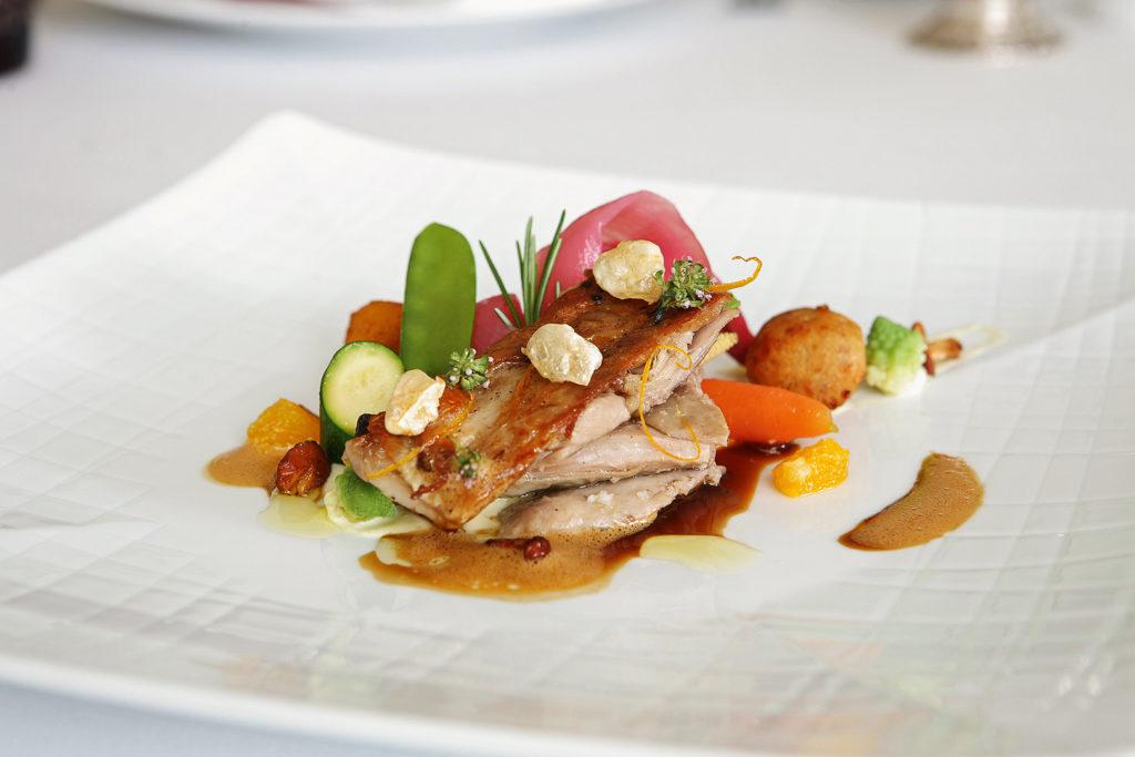 Gericht im Restaurant Yeatman