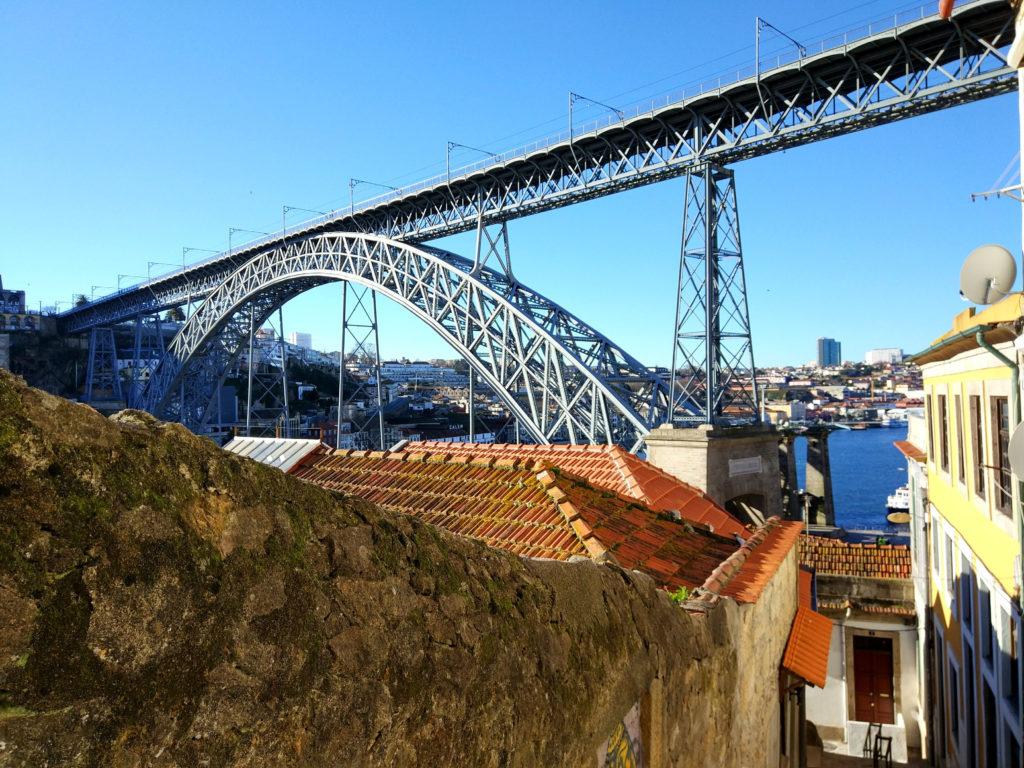 Blick auf die Brücke von Porto