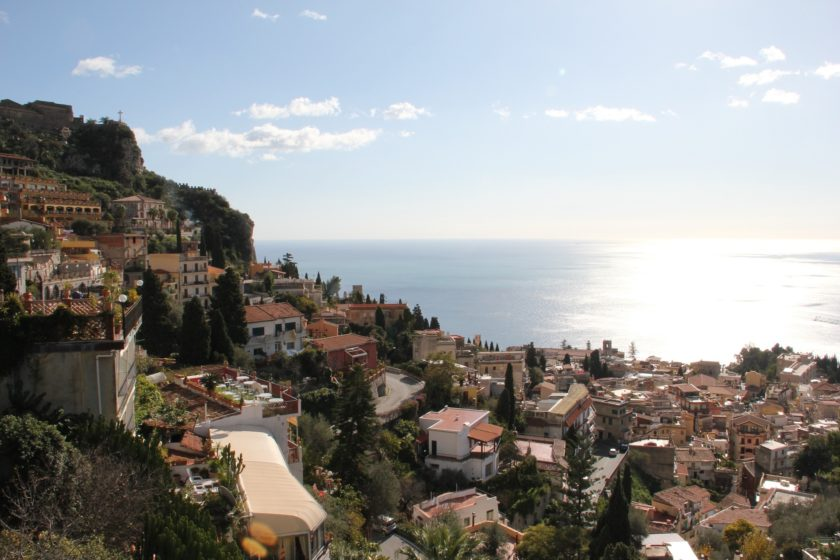 Blick auf Taormina