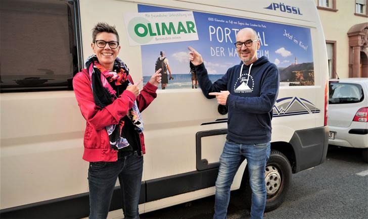Filmemacher mit Tourbus