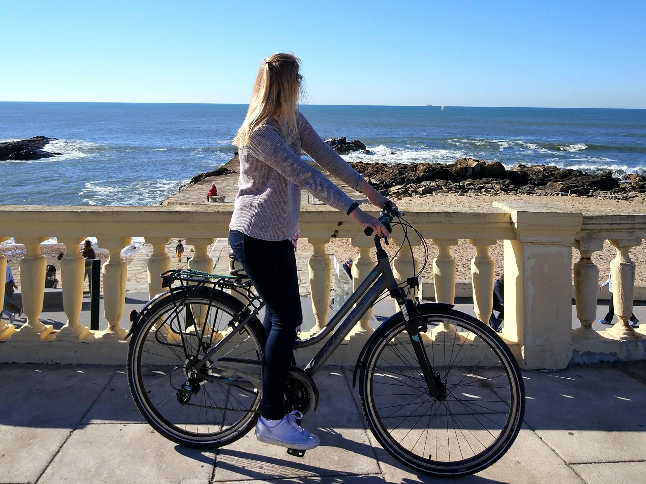 Auf einer Radtour ab Porto bis zum Atlantik