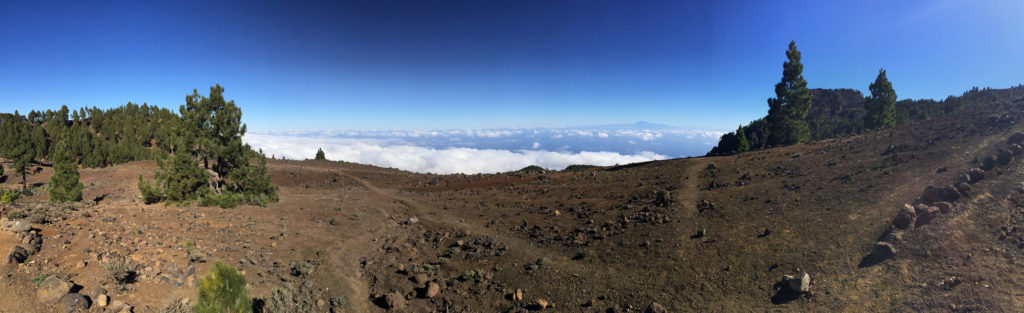 Blick von La Palma auf Teneriffa