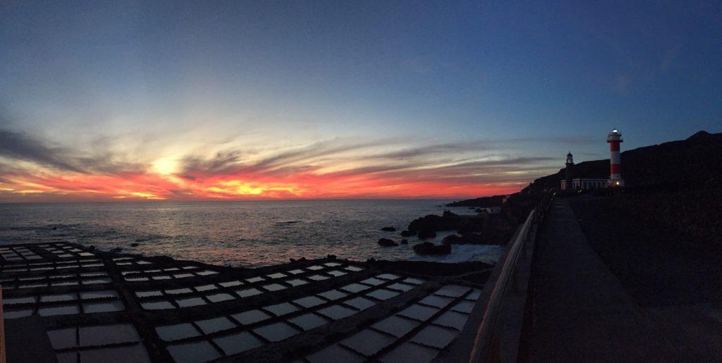 Salinen La Palma Sonnenuntergang