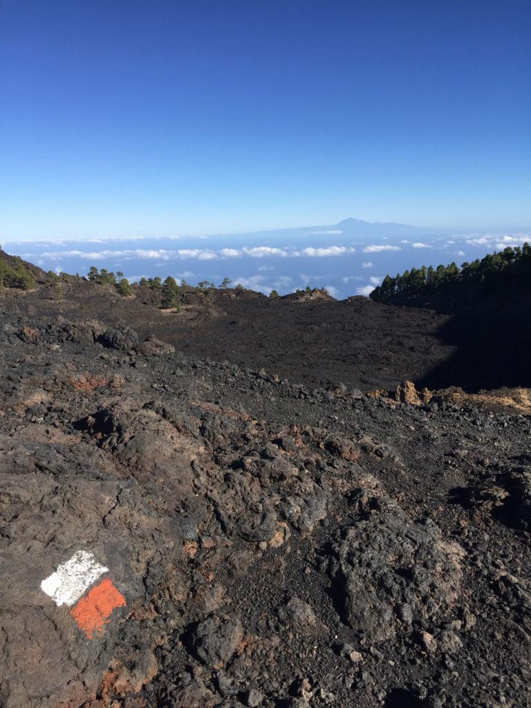 Markierung Vulkanroute La Palma