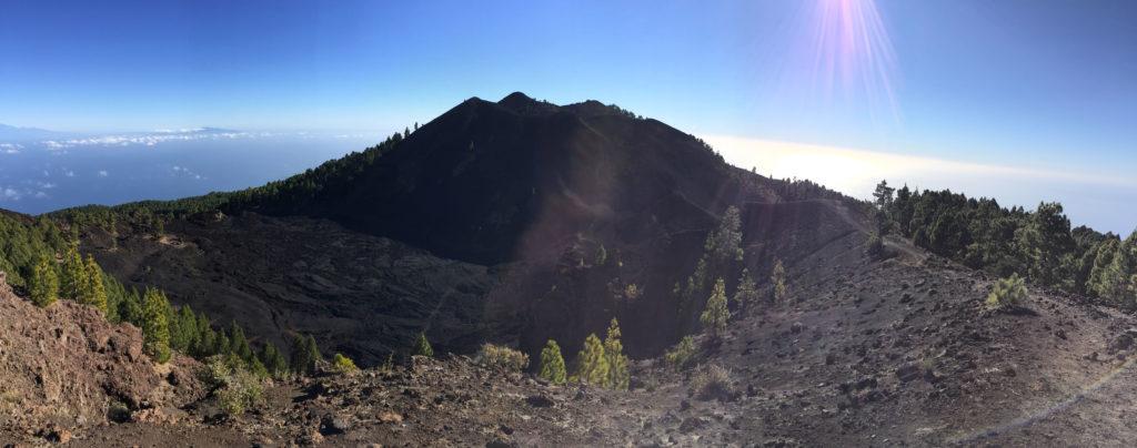 Vulkanwanderung Ausblick La Palma