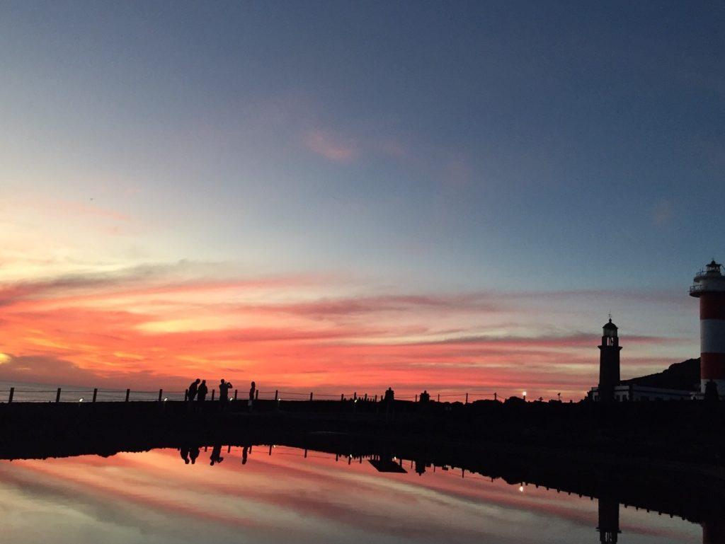 Sonnenuntergang Leuchtturm La Palma