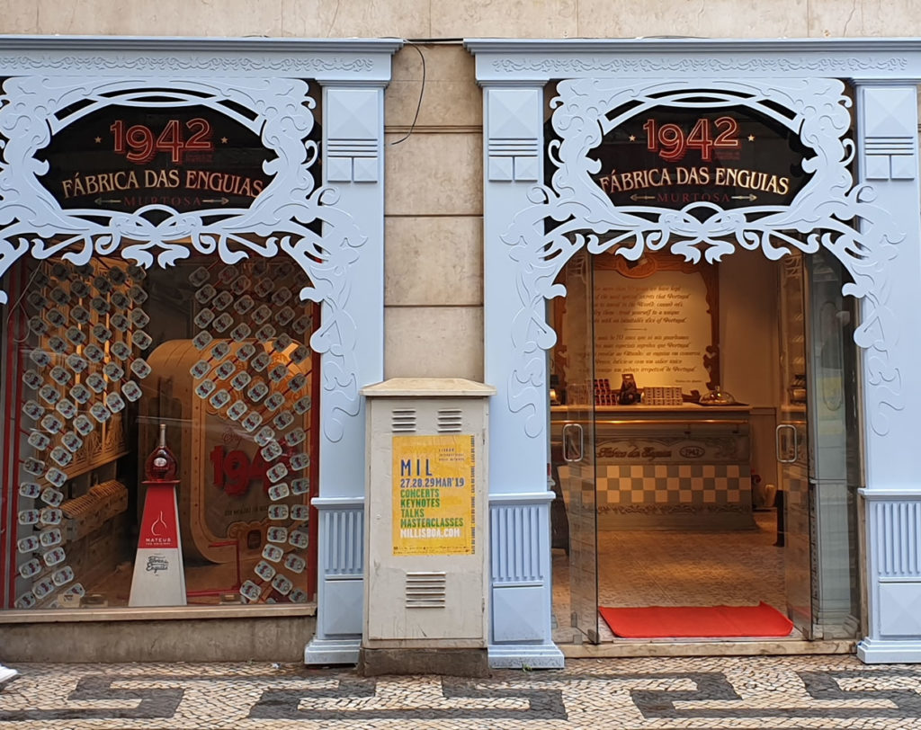 Außenansicht Konserven Murtosa Lissabon