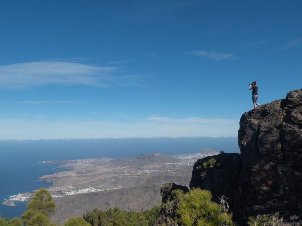 Ausblick Wanderung Naturpark Tamadaba