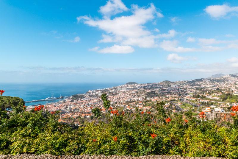 Madeira Blick auf Funchal