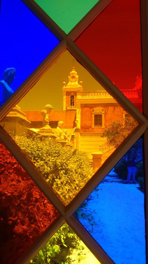 Detail Buntglasfenster Palácio de Estói