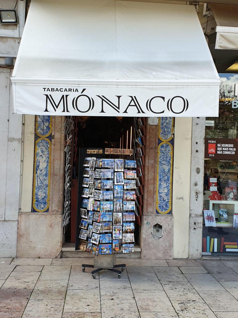 Tabak und Zeitungen Geschäft Lissabon