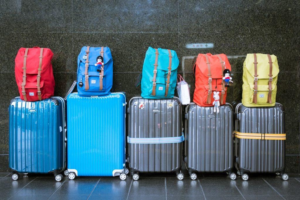 Gepäck Koffer Familie