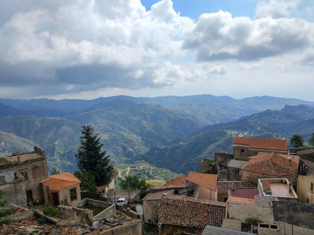 Ausblick von Bova in Kalabrien