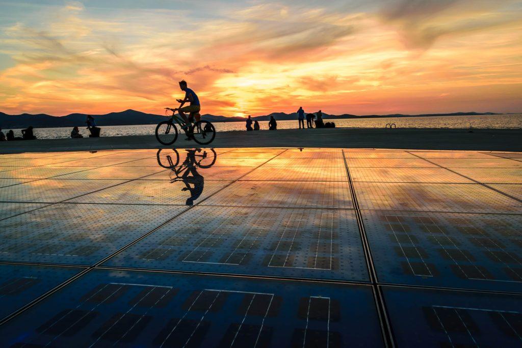 Gruß an die Sonne Sonnenuntergang Zadar