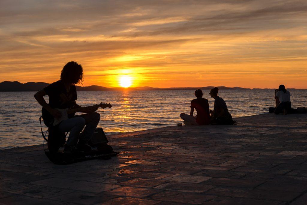 Sonnenuntergang Altstadt Zadar