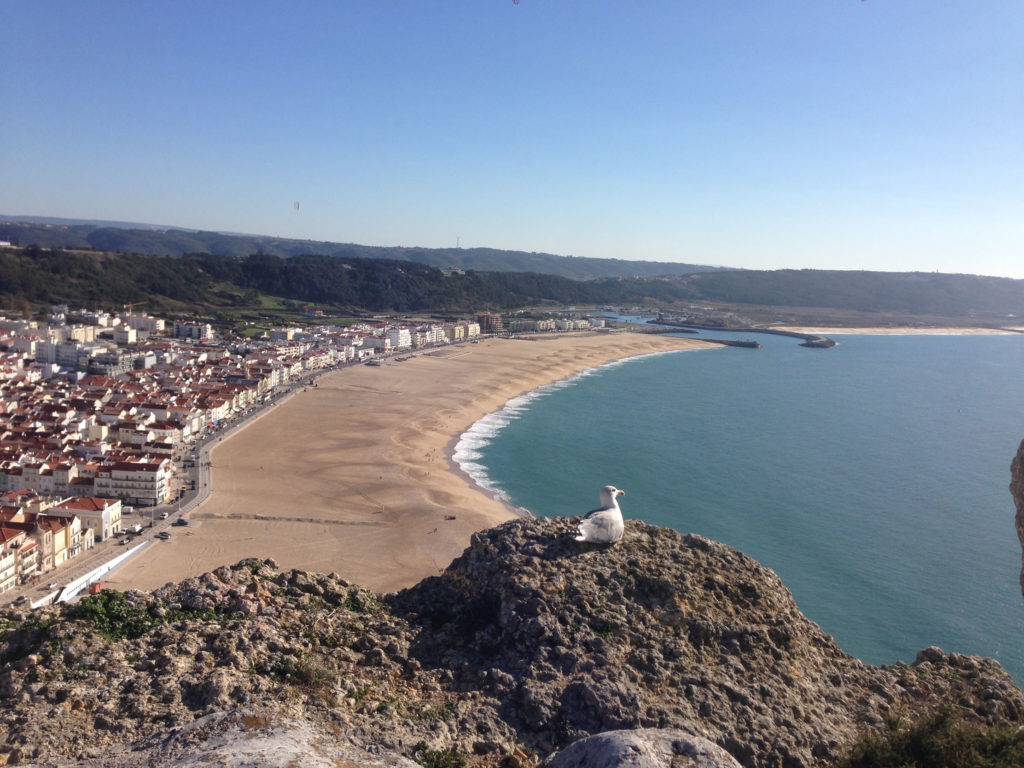 Panorama Blick auf Nazaré