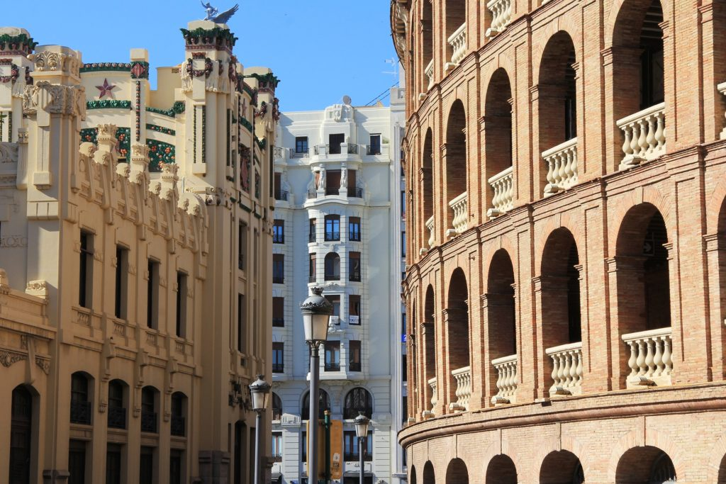 Alte Gebäude in Valencia