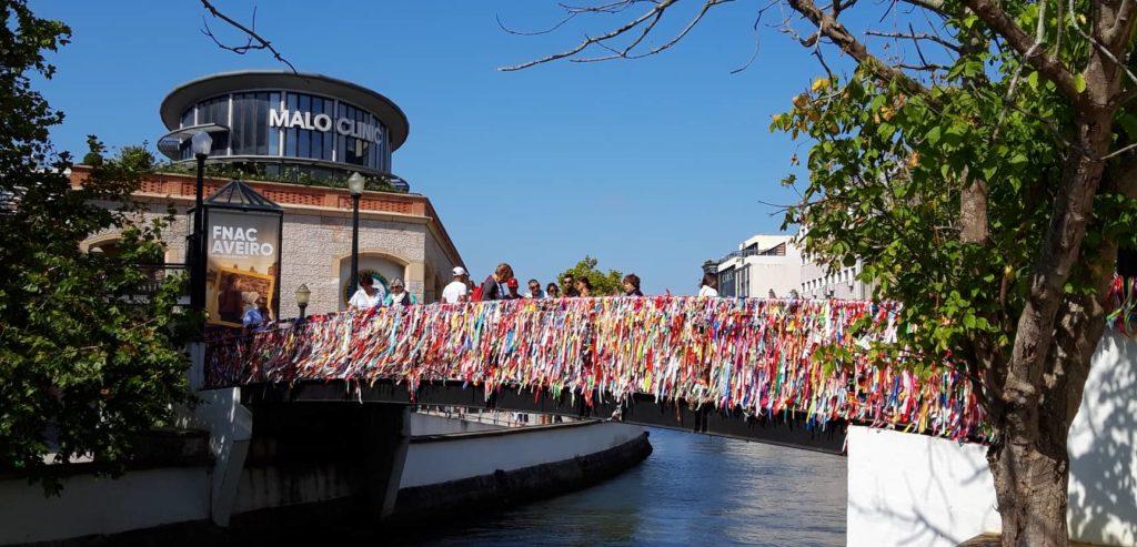 Geschmückte Kanäle Aveiro