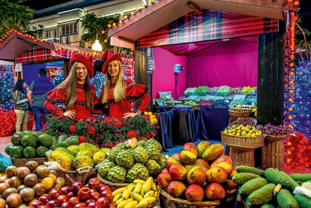 Marktnacht in Funchal vor Weihnachten