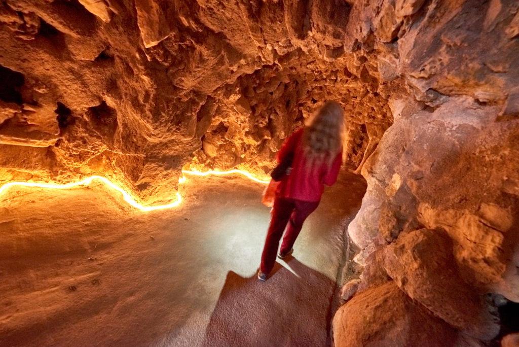 Beleuchtete Tunnel in Sintra