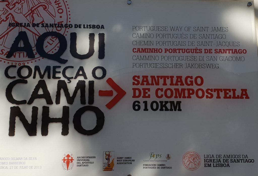 Beginn des portugiesichen Jakobswegs