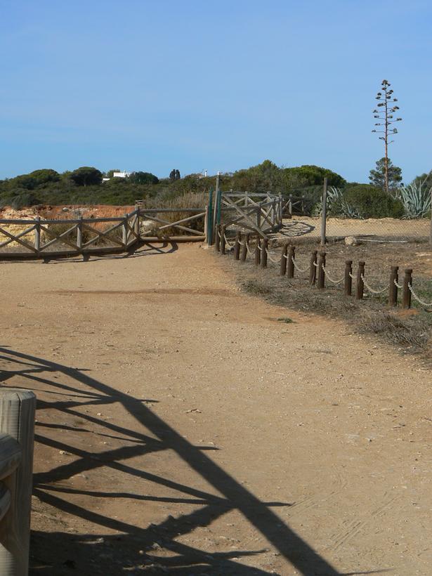 Beginn der Küstenwanderung Algarve