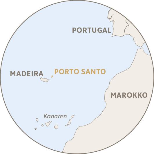 Lage von Porto Santo im Atlantik