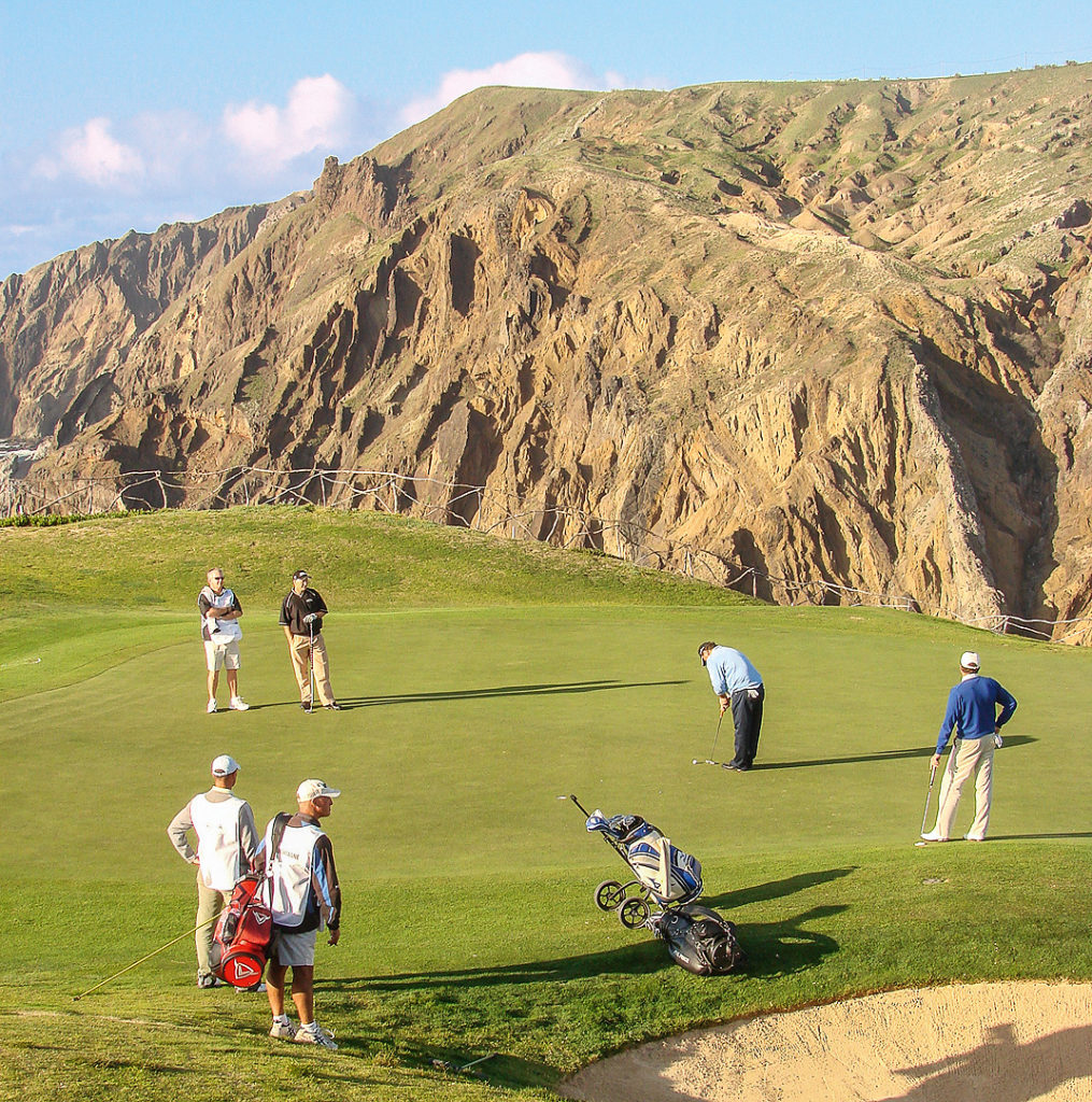 Golfspieler auf Porto Santo