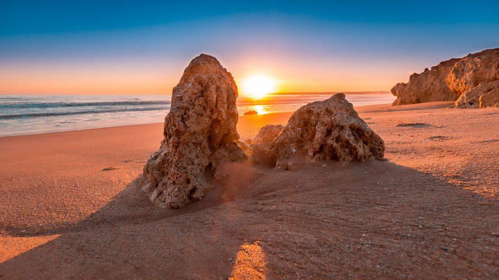 Sonnenuntergang in Algarve (Portugal)