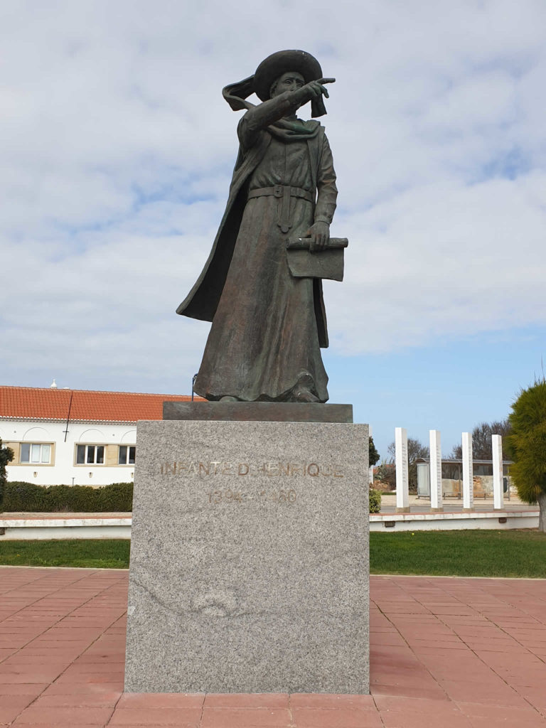 Statue Heinrich der Seefahrer Sagres
