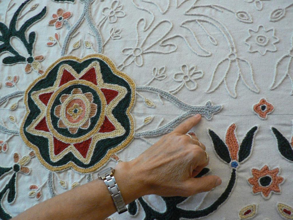 Detail Kreuzstich Teppich Arraiolos