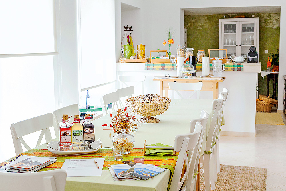 Frühstücksraum Casa do Plátano