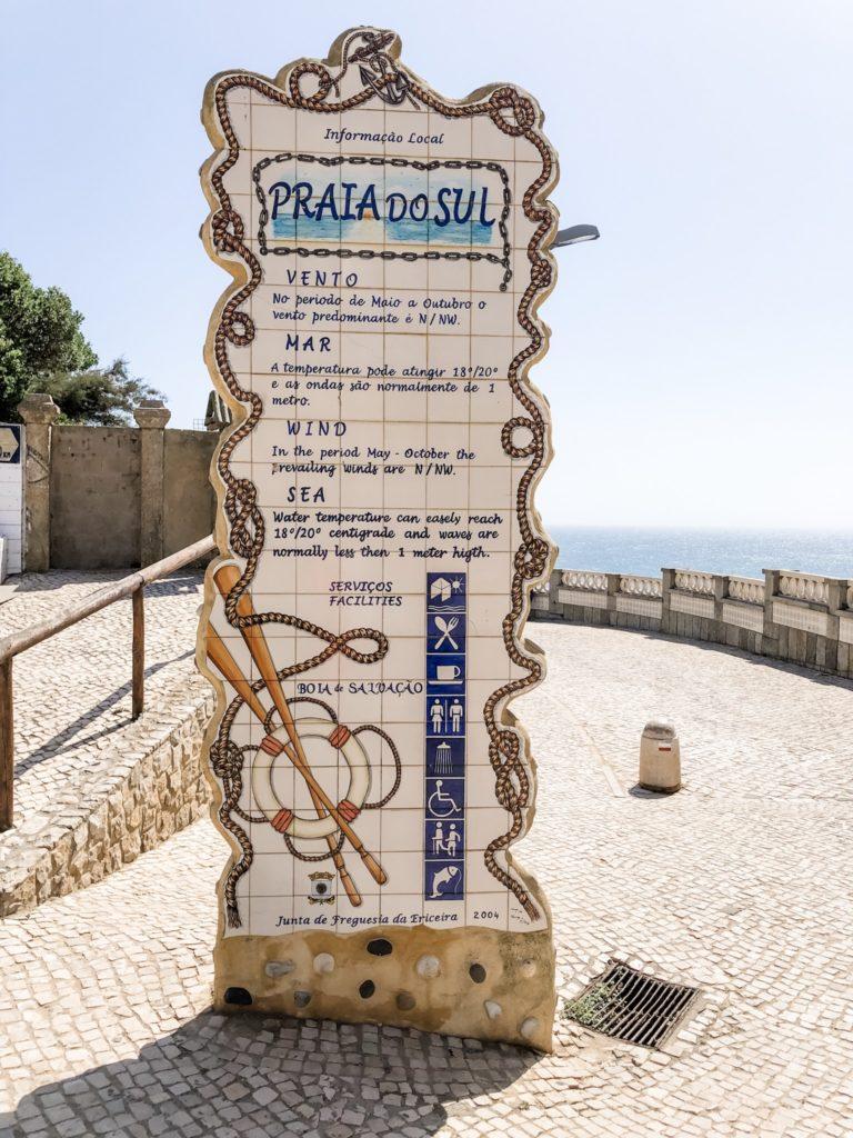 Info Tafel Praia do Sul