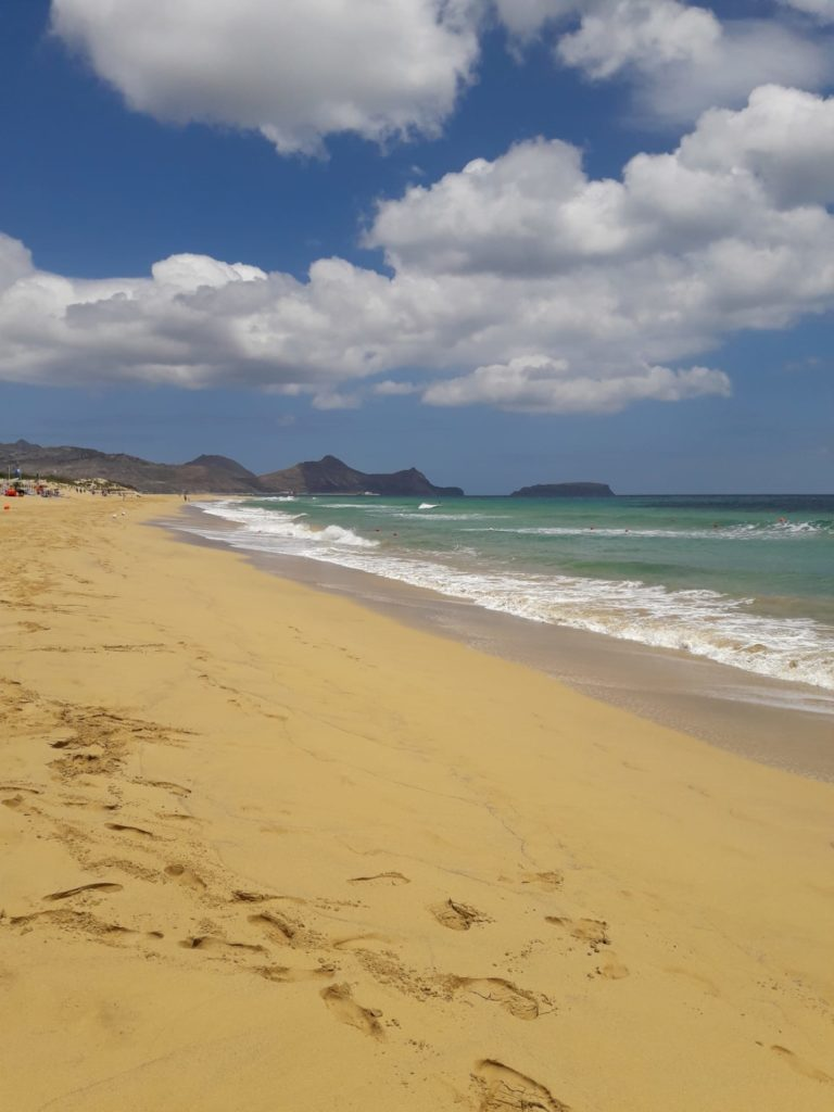 Sand auf Insel Porto Santo