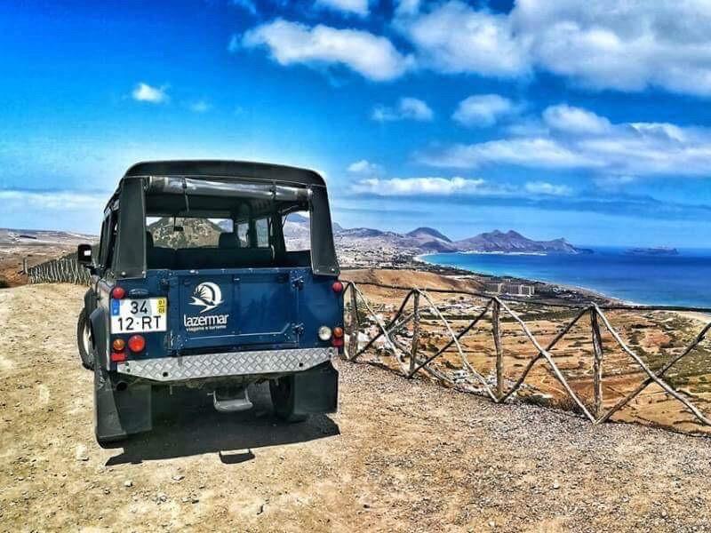 Jeep auf Porto Santo Rundfahrt
