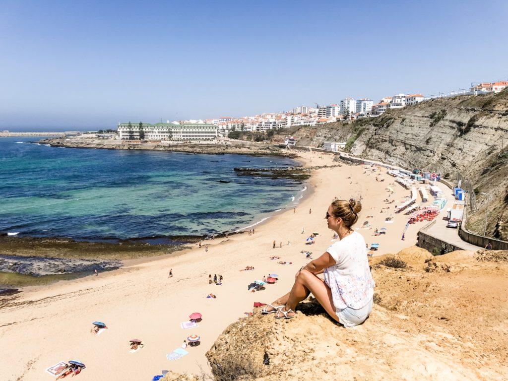 Blick auf den Strand Praia do Sul in Ericeira