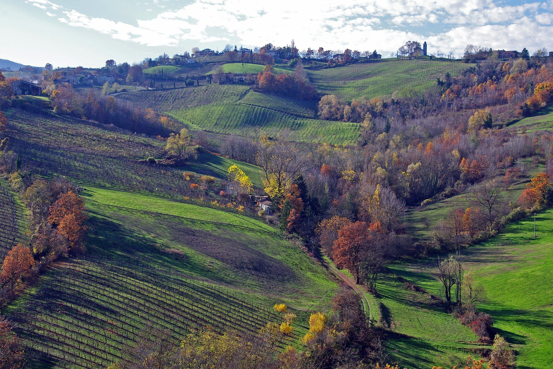 Landschaft in der Emilia-Romagna