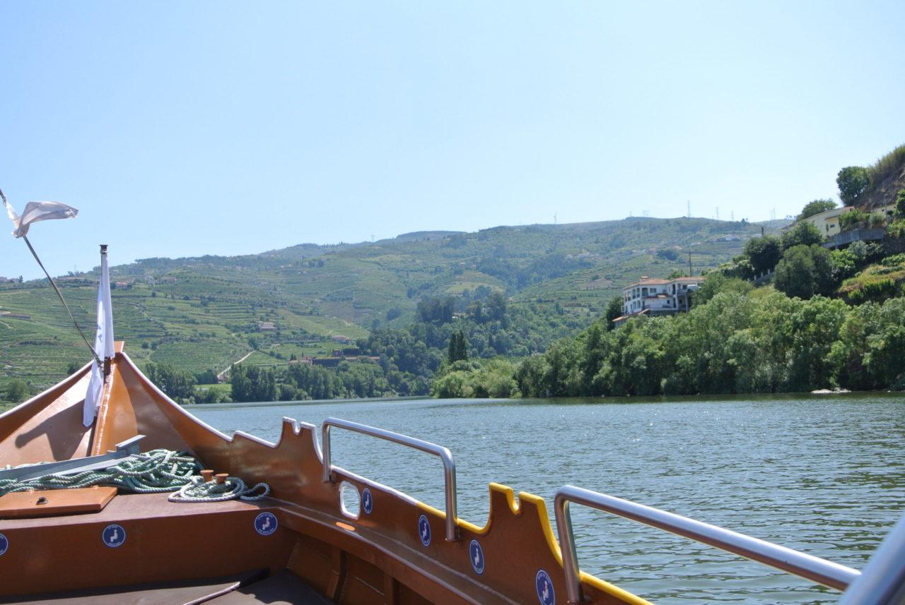 unterwegs auf dem Douro mit dem Barco Rabelo